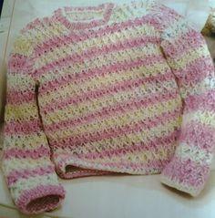 CROCHE E TRICO PARA OS PEQUENINOS: Blusa em trico para bebe