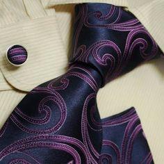 Navy pattern tie for men purple swirl wedding tie discount silk neck ties cufflinks set H5086 Y, http://www.amazon.com/dp/B003FEMH6S/ref=cm_sw_r_pi_dp_MlZ-pb09JN9Q5