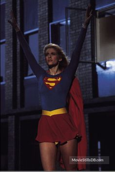 A gallery of Supergirl publicity stills and other photos. Featuring Helen Slater, Faye Dunaway, Hart Bochner, Brenda Vaccaro and others. Helen Slater Supergirl, Supergirl Movie, Power Girl Supergirl, Supergirl Superman, Comic Book Superheroes, Comic Books, Dc Comics Characters, Female Characters, Arte Dc Comics
