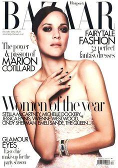 Harper's Bazaar UK December 2012 Marion Cotillard in Dior Haute Couture Fall Winter 2012