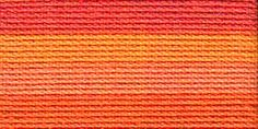 Lizbeth Cordonnet Crochet Thread Orange Crush Size 3