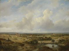 Gezicht op Haarlem, Andreas Schelfhout, 1844