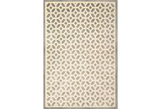 This rug would look great also in the seating area with light chairs and drapes.  What do you think?