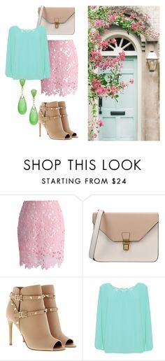 """""""Нежность"""" by lulochka on Polyvore featuring мода, Chicwish, 8, Valentino, WearAll и plus size clothing"""