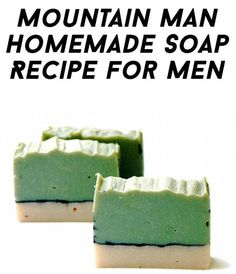 Mountain Man Detox Homemade Soap Recipe for Men with Free Printable Labels for Gifting