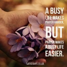 A busy life makes prayer harder, But prayer makes a busy life easier. Islamic Love Quotes, Islamic Inspirational Quotes, Muslim Quotes, Religious Quotes, Islam Hadith, Islam Muslim, Alhamdulillah, Allah Islam, Allah Quotes