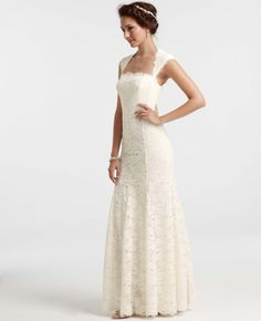 Ann Taylor - AT Wedding Dresses - Re-Embroidered Lace Gown