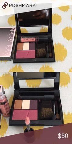 Mary Kay - Filled Compact Comes with 3 eye shadows - Amber blaze, plum & cream, cherry blush, mini brushes and Au Natural lip gloss. Value is over $80 Mary Kay Makeup