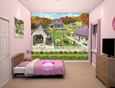 Walltastic Horse and Pony Kids Wall Mural