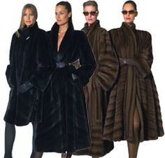 Mink coats... (my short one is worn out)  I NEED 2 new ones....long & short  REAL, no faux for me