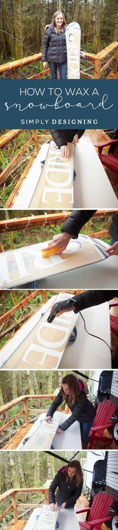 I am showing you How to Wax a Snowboard quickly so that your board will always be in good shape and you will be ready to fly down the slopes anytime ad Craft Projects For Kids, Cool Diy Projects, Rub And Buff, Diy Vanity Lights, Party Food And Drinks, Industrial Metal, Do It Yourself Projects, Always Be, Hostess Gifts