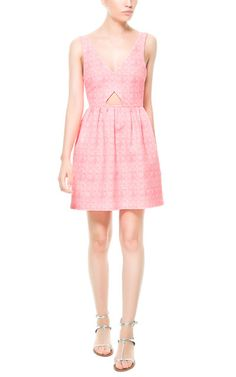 JACQUARD DRESS WITH FULL SKIRT from Zara. Just enough skin peeking at the front.