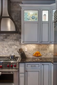 Kitchen Backsplash Ancient Tumbled Silver 2x4 Travertine grout
