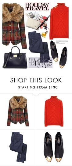 """""""Travel in Style, Holiday Edition"""" by helenevlacho ❤ liked on Polyvore featuring Joe Browns, Balmain, Jimmy Choo, Maryam Keyhani, travelstyle, contestentry, travelinstyle and travelessentials"""