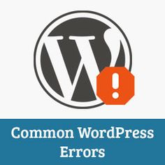 14 Most Common WordPress Errors and How to Fix Them - http://www.wpbeginner.com/beginners-guide/14-most-common-wordpress-errors-and-how-to-fix-them/