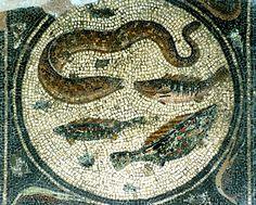 La partie centrale de la mosaïque de Zliten