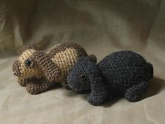 Crochet lop rabbit pattern via Craftsy $ these are cute