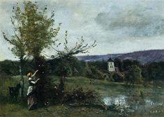 The Verdant Bank, 1860-1865 - Camille Corot