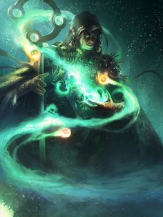 Though this picture depicts a villain, the way he is manipulating the power orbs is very similar to what I want the heroes to do with their soulstones.