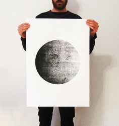 "Big Screen-Print  Poster ( 50 x 70 cm) 19.7"" x 27.6"" inches. $34.00, via Etsy."