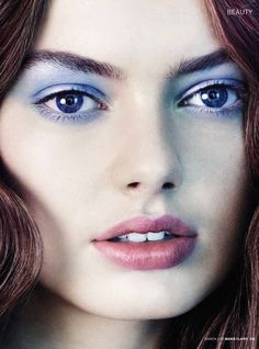 Pastel Makeup - Hanna Verhees by Christophe Meimoon for Marie Claire UK March 2013.