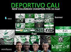DEPORTIVO CALI (banner, flags, minifaces) www.imstudio.xyz
