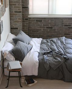 jersey white and grey au lit fine linens cotton bedding linen bedding white