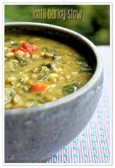 Lentil Barley Stew - Vegan