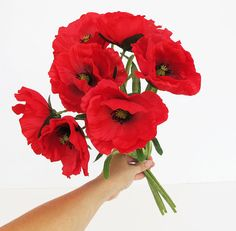 10 red poppies artificial flowers silk poppy 43 flower wedding 10 red poppies artificial flowers silk poppy 43 flower wedding anemones supplies faux fake anemone pinterest artificial flowers red burgundy and mightylinksfo