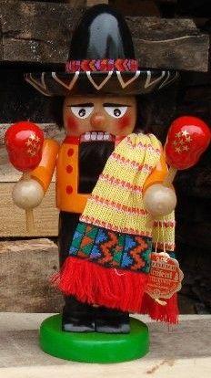 Steinbach Signed Chubby Mexican German Nutcracker