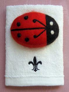 Ladybug Ladybug Felted Soap Sweet Bar of by RaisingTheBarSoap