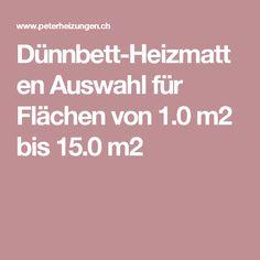 Dünnbett-Heizmatten Auswahl für Flächen von 1.0 m2 bis 15.0 m2