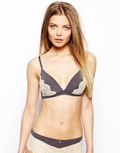 Esprit Edc Mia Wireless Soft Cup Padded Bra With Lace Detail - Dark pebble Edc, Lace Detail, Underwear, Lingerie, My Style, How To Wear, Wedding, Inspiration, Fashion