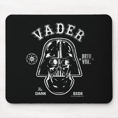 Darth Vader Dark Side Badge Mouse Pad #darth #vader #illustration #retro #badge #MousePad