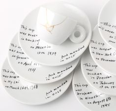 "Yoko Ono's ""Mended Cups"" collection for illy"