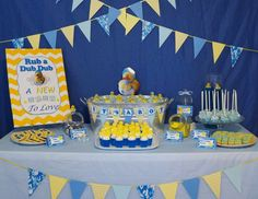 Shy's Rubber Duckie and Blue Camo  Baby Shower