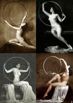 Ziegfeld Follies Nudes with Hula Hoops