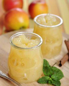 Omena-päärynäsose maistuu esimerkiksi jogurtin kanssa. 1. Kuori hedelmät ja poista siemenkodat. Paloittele hedelmät kattilaan. Lisää vesi. Kei… Dips, Food And Drink, Pudding, Canning, Sweet, Desserts, Recipes, Sauces, Candy