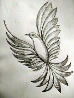 3d Art Drawing, Pencil Sketch Drawing, Pencil Sketches Landscape, Pencil Drawing Images, Drawing Ideas, Pencil Drawings Of Animals, Bird Drawings, Art Drawings Sketches Simple, Cute Drawings