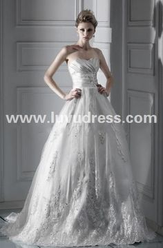 Spectacular Ball Gown Sweetheart Chapel Lace Dasha's A-Line Wedding Dress 2015 New Style