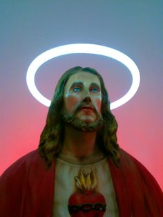 Sacred and profane: Neon Jesus Christ - Carefully selected… Religious Icons, Religious Art, Hopeless Fountain Kingdom, Southern Gothic, American Gods, Arte Pop, Sacred Art, Jesus Christ, Savior