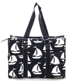 Monogram utility tote/ Navy Sail Boat utility tote/Perfect carry all/ large  diaper bag by sewsassybootique on Etsy Large Diaper Bags, Utility Tote, Large Tote, Sailing, Monogram, Boat, Tote Bag, Navy, Trending Outfits