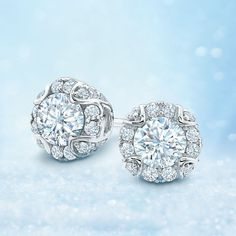 Perfect for everyday wear, each earring showcases a shimmering miracle-set 1/4 ct. round #diamond. http://jangmijewelry.com/