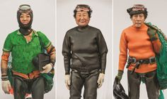 For centuries, haenyeo women from the island province of Jeju have made their living diving for seafood on the ocean floor … without ever using an air tank. They dive as deep as 10 metres for two minutes at a time, with lead weights strapped to their waists so they sink faster, and they leave a flotation device (or tewak) on the surface with a net hanging beneath it to store all the creatures they find. Photographs: Hyung S Kim