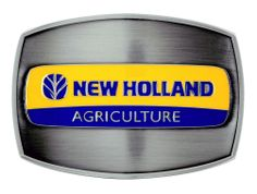 New Holland Agriculture Logo Colored Belt Buckle