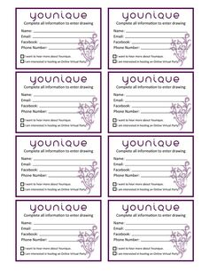These cards are awesome when you are doing a drawing! Simply print them out then cut them. Drawings are perfect when you are doing an event! #Younique #ClickImageToShop #Questions