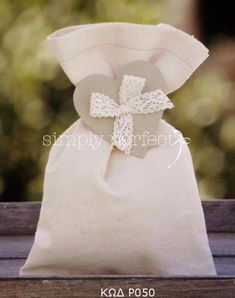 Μπομπονιερες Βαπτισης — Simply perfect Communion, Gift Bags, Gift Wrapping, Gifts, Ideas, Tea Party Favors, Tejido, Sacks, Bag Packaging
