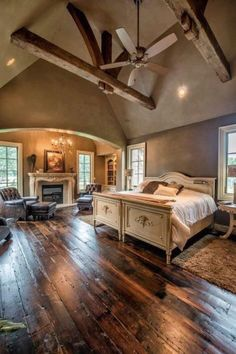 love the floors in this romantic and relaxing master...LOVE THIS...YUMMY!...BUT WITHOUT THE WHITE BEDDING!...;) L.