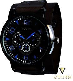 Relógio Bracelete de Couro Masculino Vouth  Visite nossa FanPage : https://www.facebook.com/Passarella-Brasil-212170078859412/  Visite nosso site: http://www.passarellabrasil.com.br/  #passarellabrasil #relógiovouth #vouth #relogiobracelete