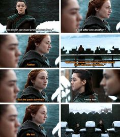 Arya and Sansa Stark 7x07 Game of thrones